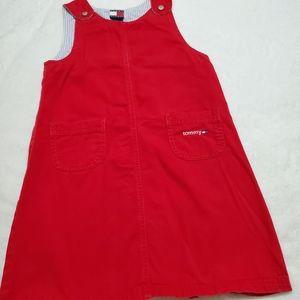 Tommy Hilfiger girl's 100% cotton red jumper